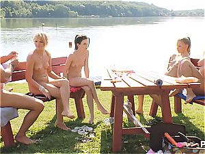 fortunate stud having a great time at the lake pt 4