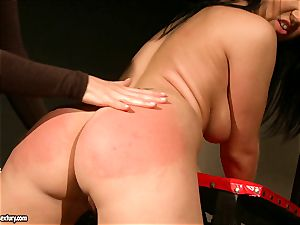 Kathia Nobili let a super hot doll stretch gams how moist puss