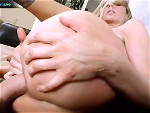 Julia Ann getting her wide open crevasse opened up