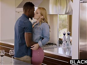 BLACKED super-fucking-hot girlfriend thirsts and Cheats With big black cock