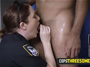 milf cops get penetrated in doggy-style by skinny phone thief
